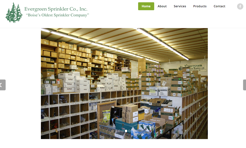 Evergreen Sprinkler Supply Inc 187 Web Design Boise